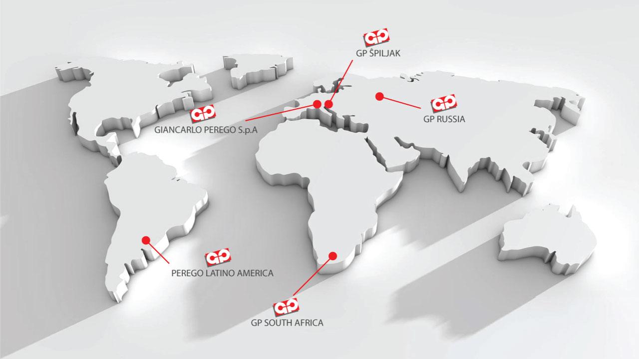 Mappa Giancarlo Perego mondo